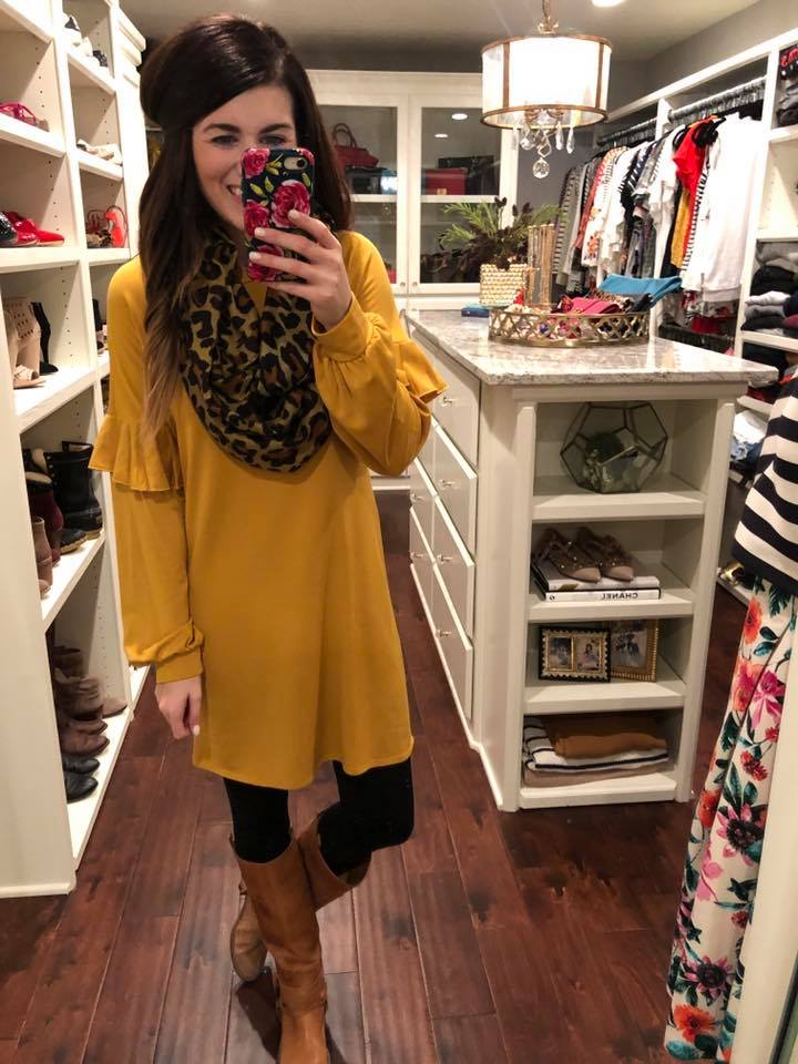 *BELLES & STEALS* Oakley Dress in Mustard and Black