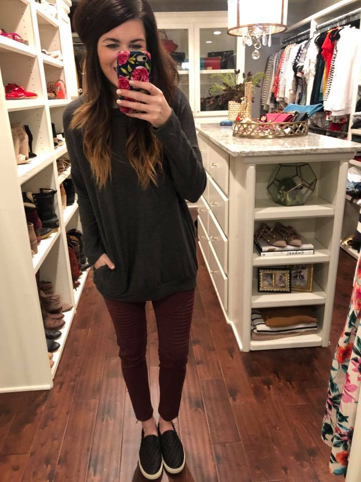 Moto Jeggings in Wine
