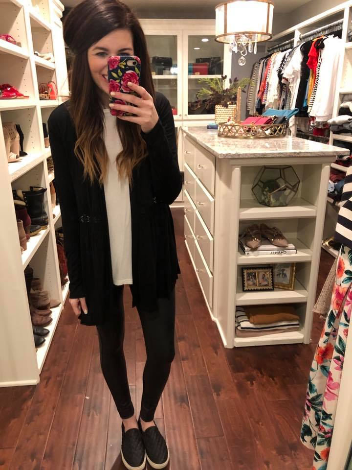 *BELLES & STEALS* Barnett Cardigan in Black and Wine