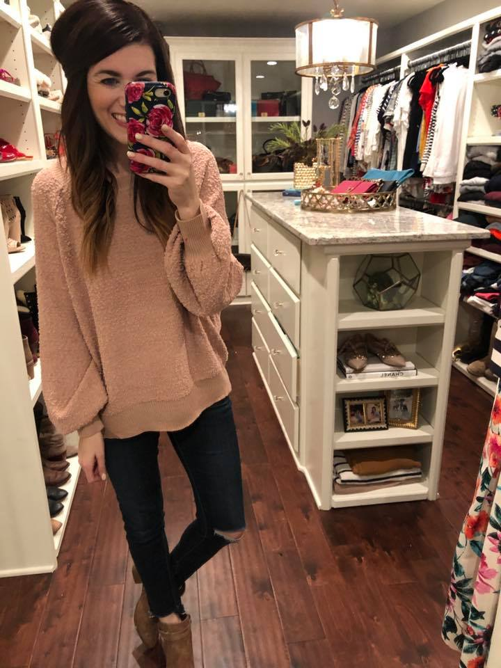 Spring Fling Sweater in Blush