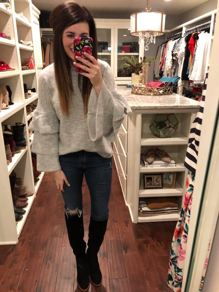 Lennie Layered Sleeve Sweater