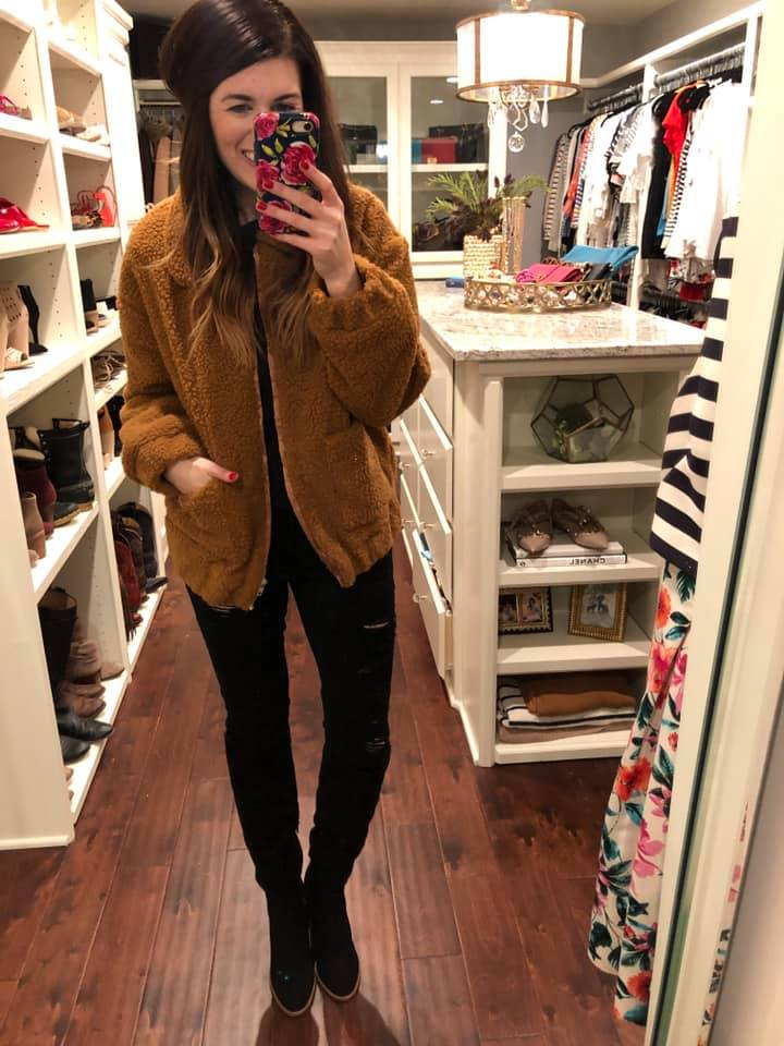 Teddy Bear Jacket in Caramel