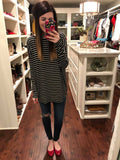 *BELLES & STEALS* All Seasons Stripes Top in Black and White