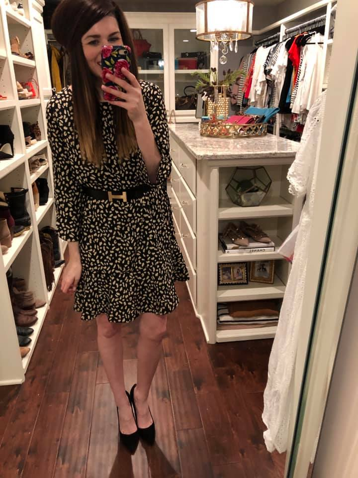 Diana Leopard Dress in Black