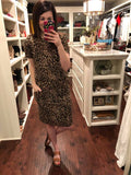 SALE! Easy Charm Drawstring Waist Dress in Leopard