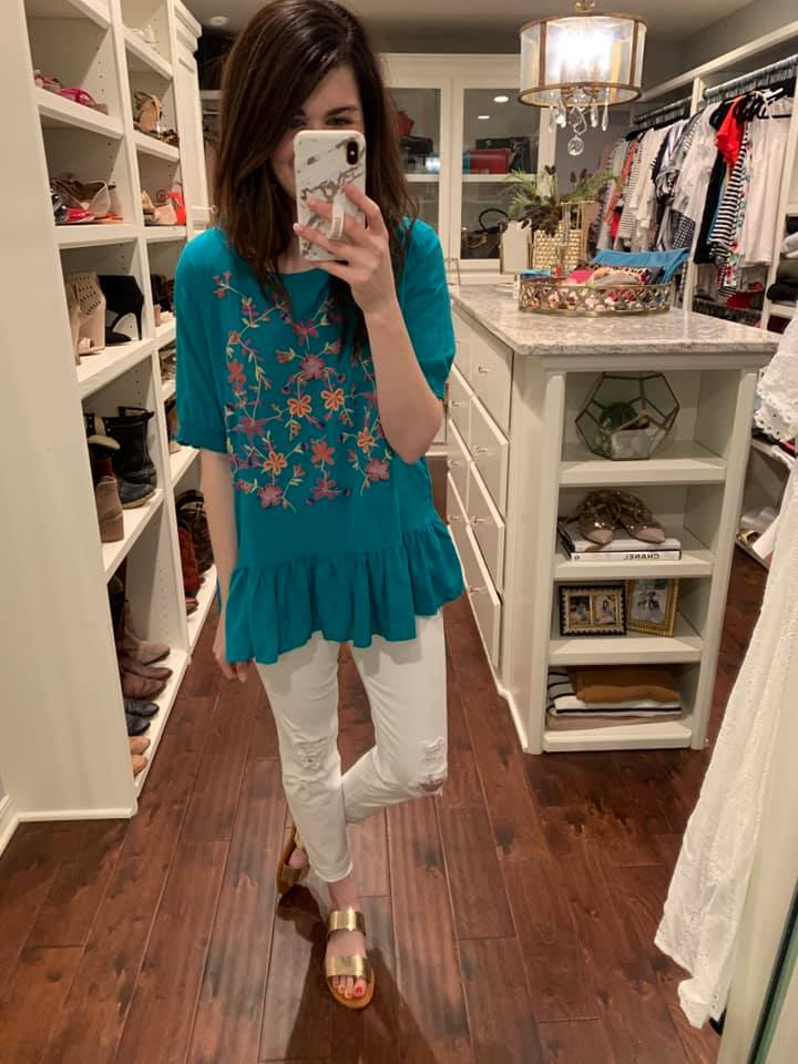 Living in Color Top in Jade
