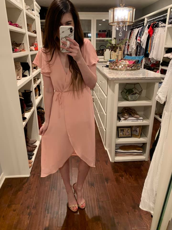 Tickled Pink Midi Dress