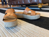 SALE! Beach Bungalow Wedges in Tan
