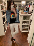 Weekend Rainbow Ringer Tee
