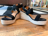 Mason Espadrille Wedges in Black