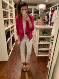 *BELLES & STEALS* Effortless Every Day Blazer in Magenta