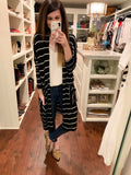 Revel Striped Cardigan in Black