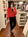 Minnie Polka Dot Top