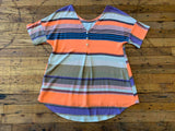 Austen Button Back Top in Orange