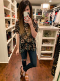 *BELLES & STEALS* Bianca Floral Top in Black