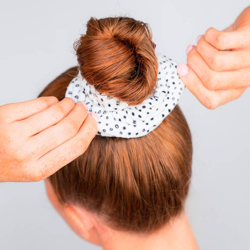 Microfiber Towel Scrunchies in Micro Dots