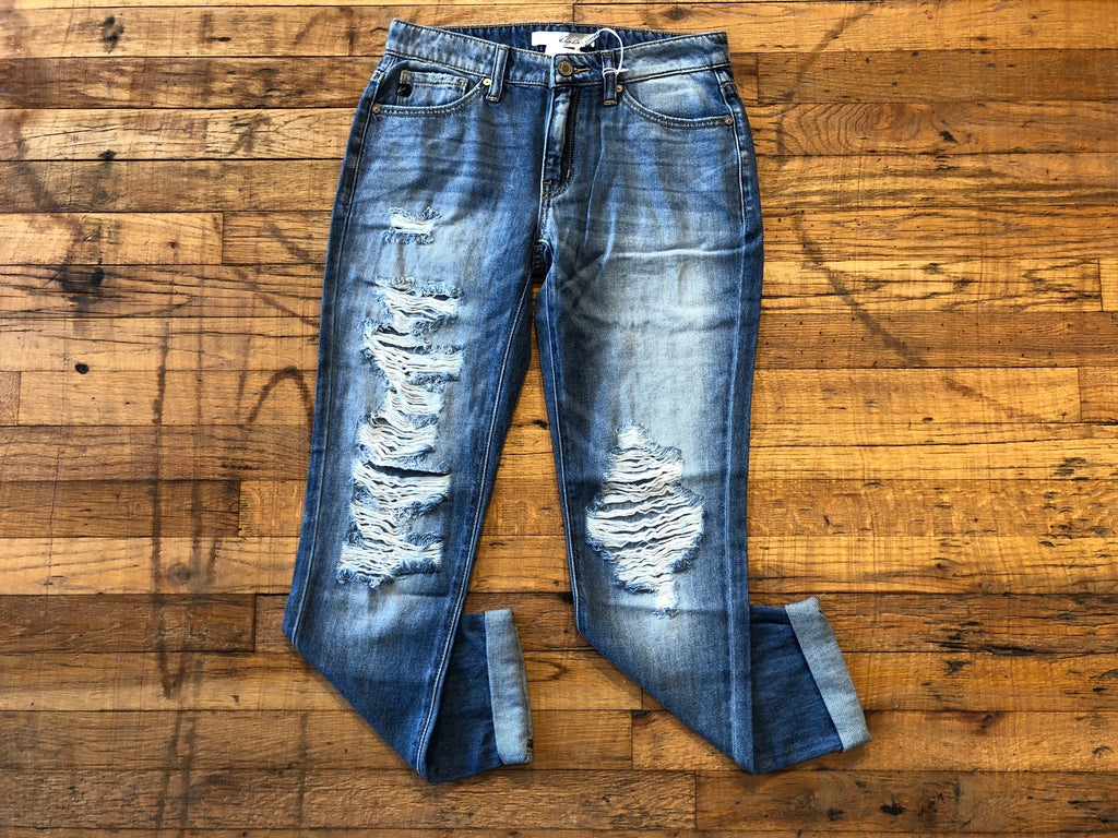 Lackland Distressed Boyfriend Jeans