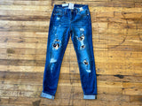 Judy Blue Leopard Patched Jeans