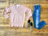 *BELLES & STEALS* Carrington Sweater in Rose