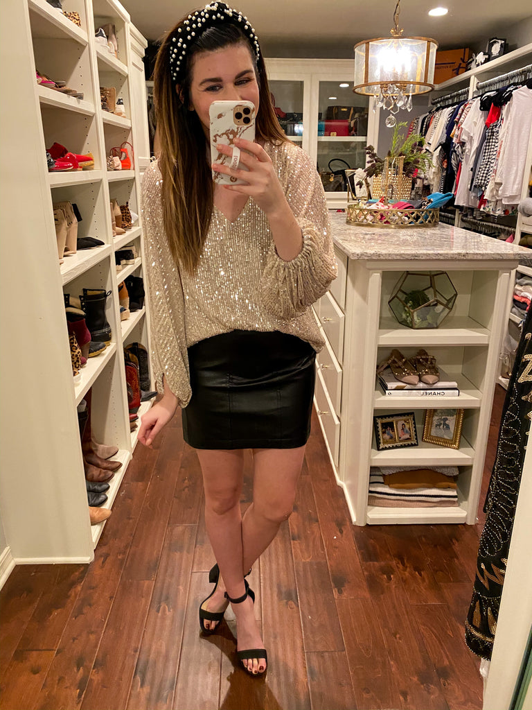 Sansa Faux Leather Skirt