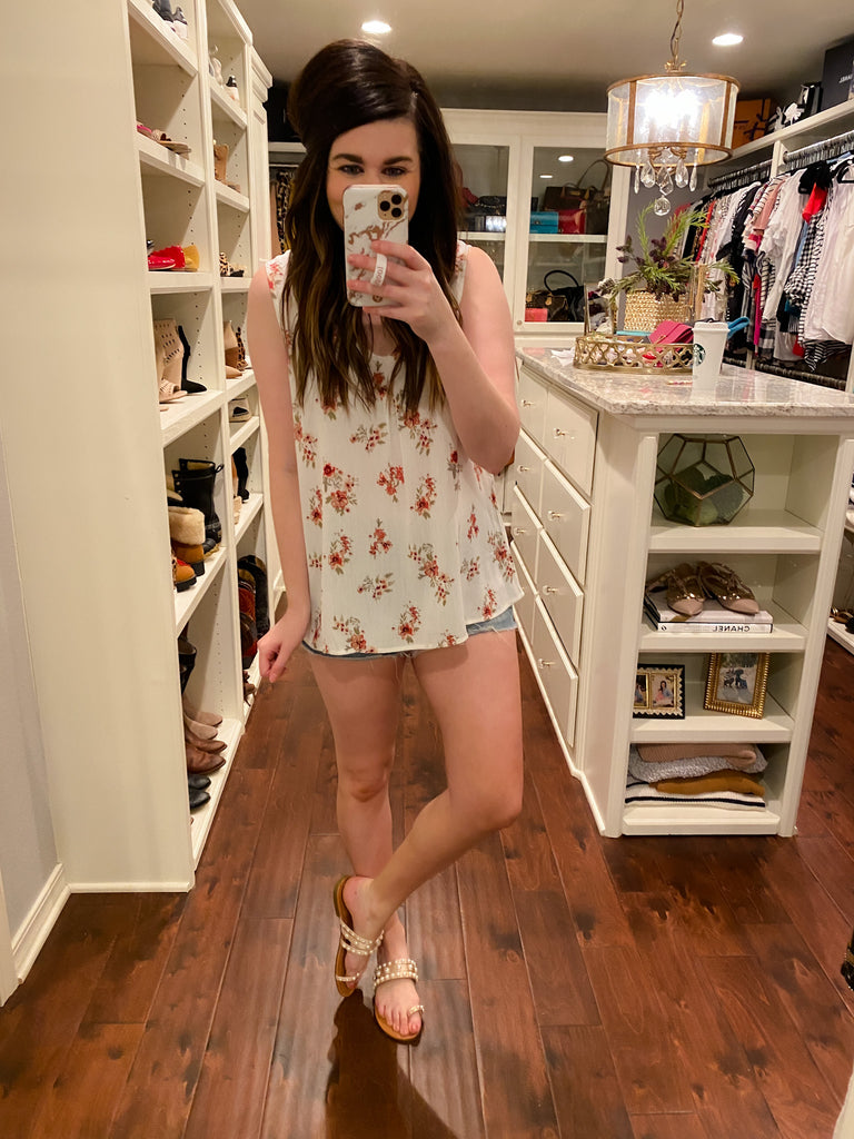 Cary Floral Tank