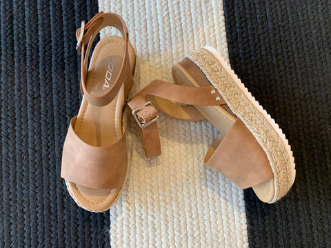 Adley Heels in Taupe