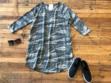 Camo Feels 3/4 Sleeve Tunic