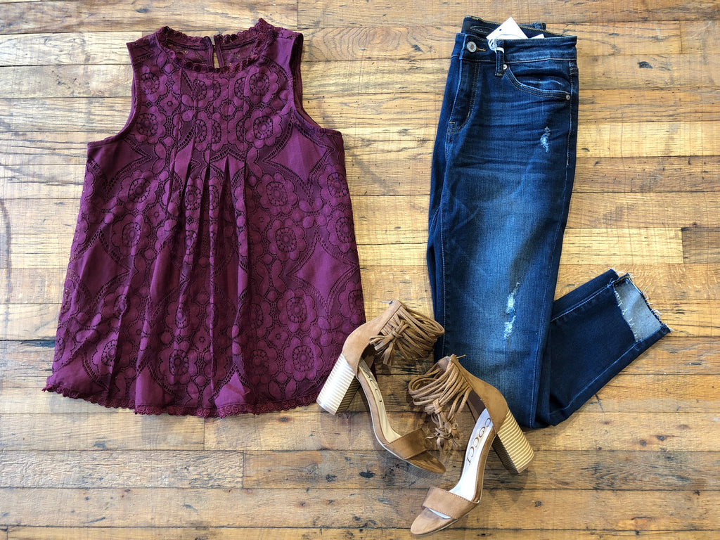 Louisa Lace Tank