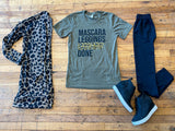 Mascara, Leggings, Leopard Done Tee in Olive
