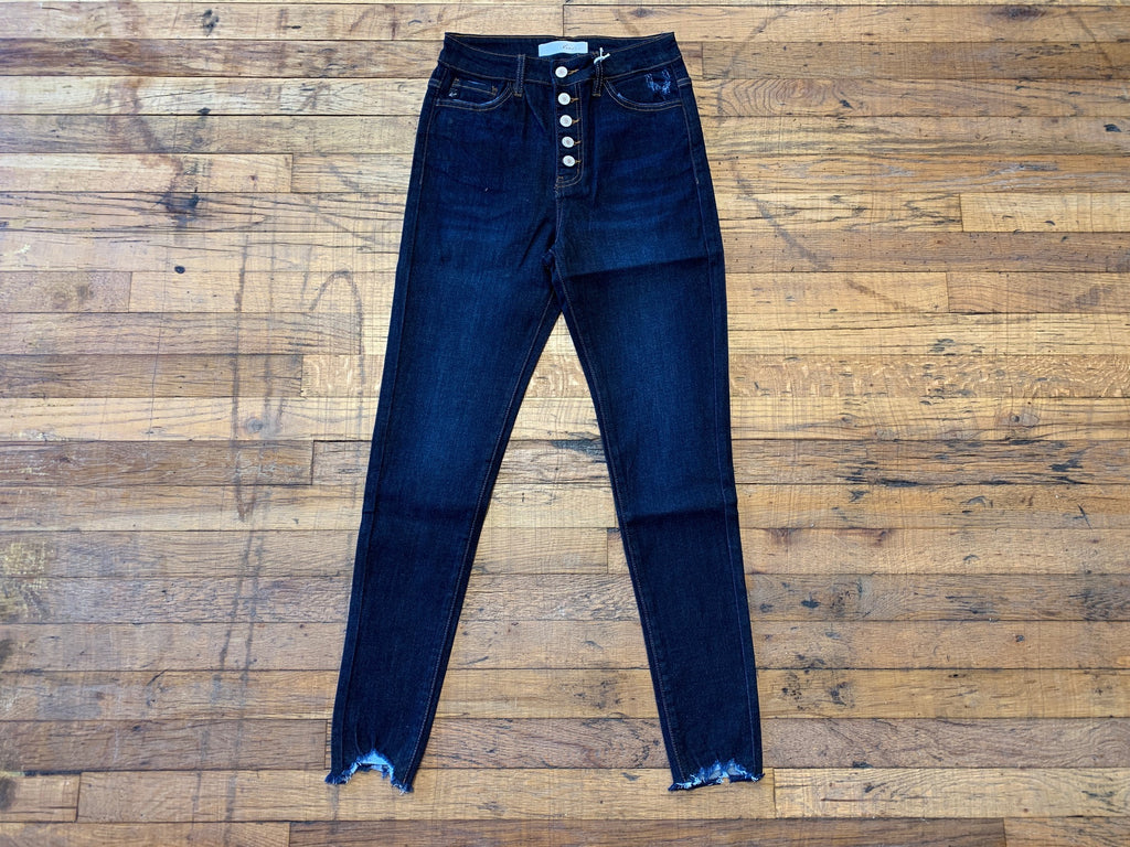 Cassie High Waist Button Jeans