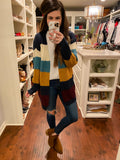 Williamsburg Color Block Cardigan