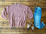 Wake Up in Whistler Sweater in Mauve