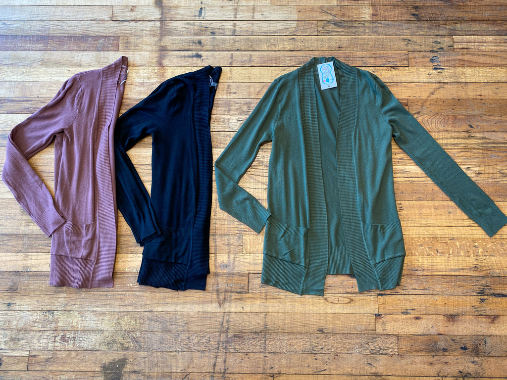 *BELLES & STEALS* Basic Ribbed Cardigans
