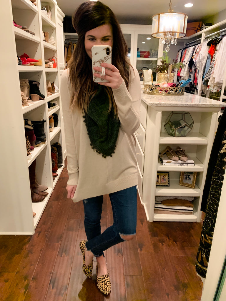 Feel the Chill Sweater in Oatmeal