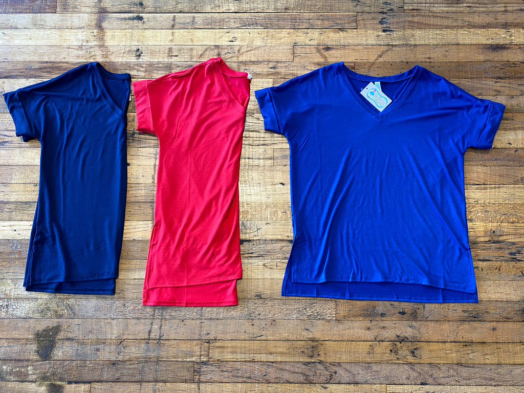 *BELLES & DOORBUSTER* Bright Side V-Neck Tees (USA Collection)