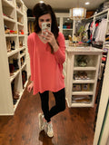 *BELLES & DOORBUSTER* Ella Long Sleeve Tunic in Rose and Dark Lilac