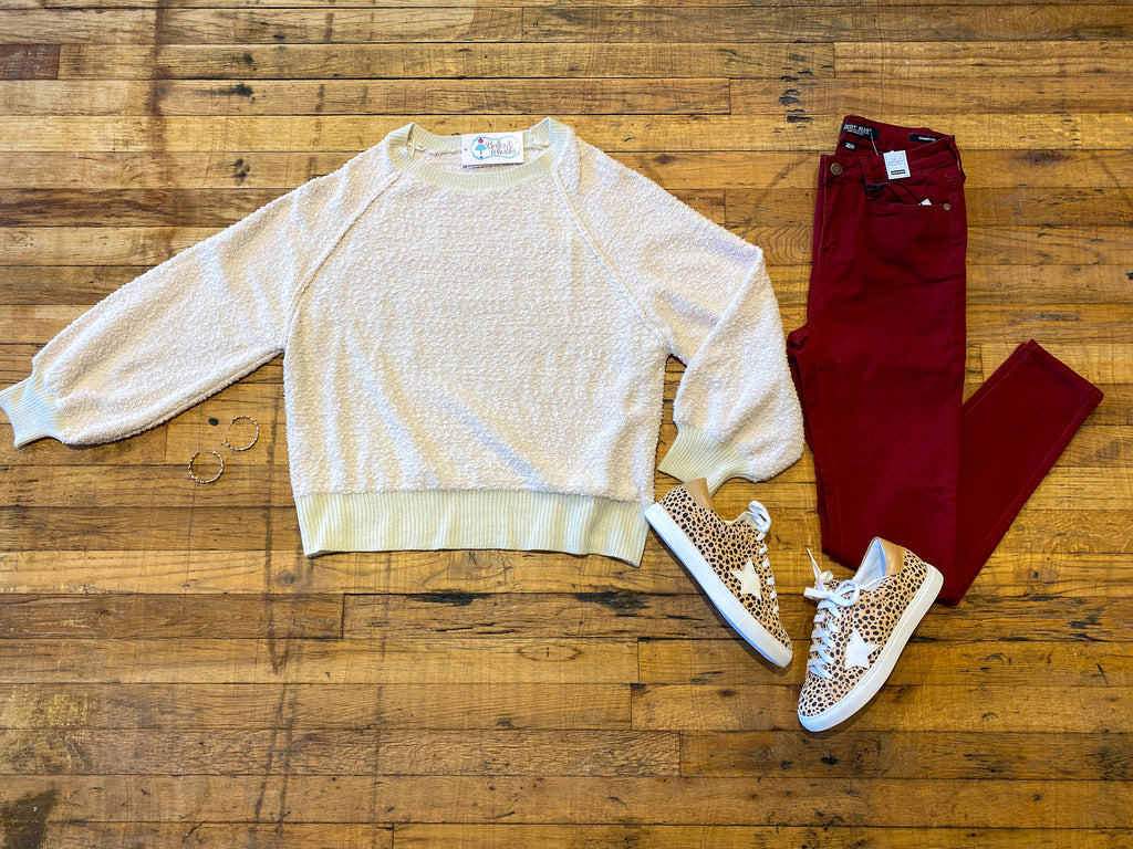 Spring Fling Sweater in Cream