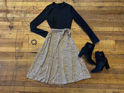 Pretty in Paisley Dress in Charcoal