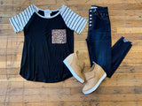 Pop of Leopard Pocket Top
