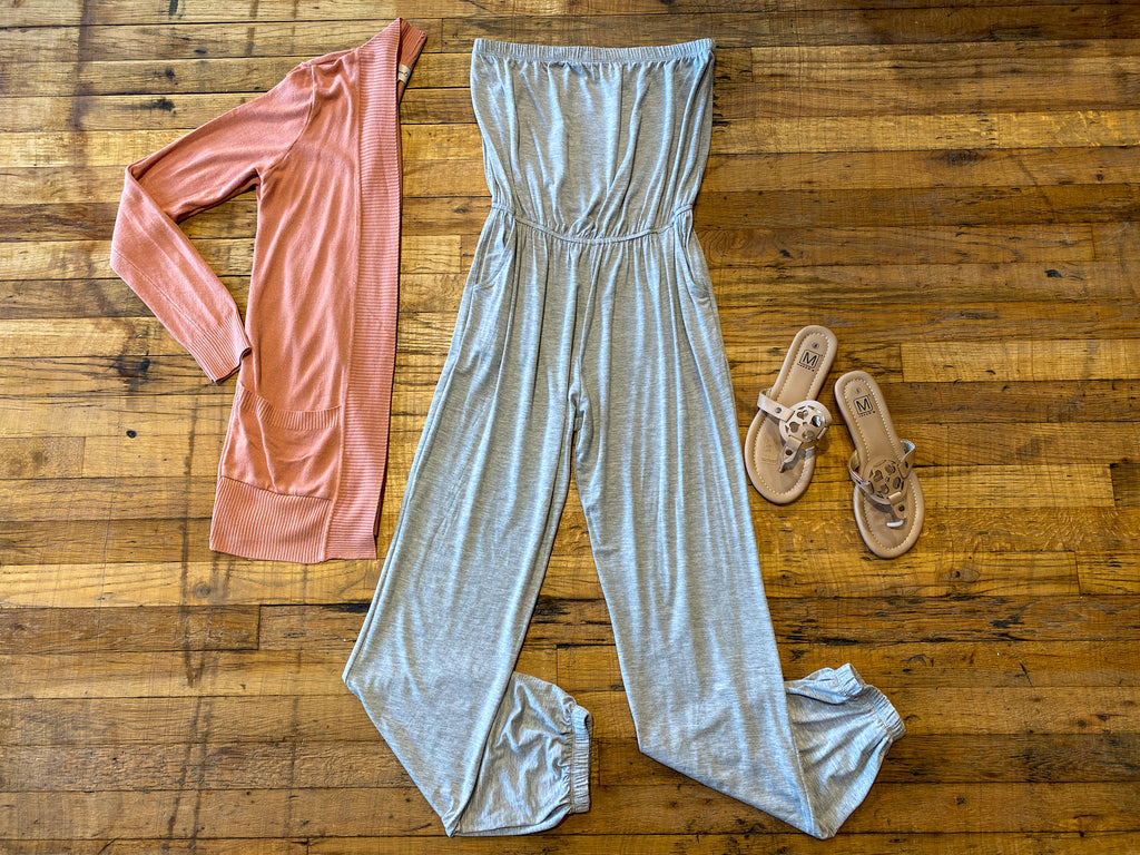 Dodson Jumpsuit in Gray