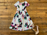 Pretty Peony Fit and Flare Dress
