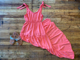 Cabo Sunsets Maxi Dress in Melon