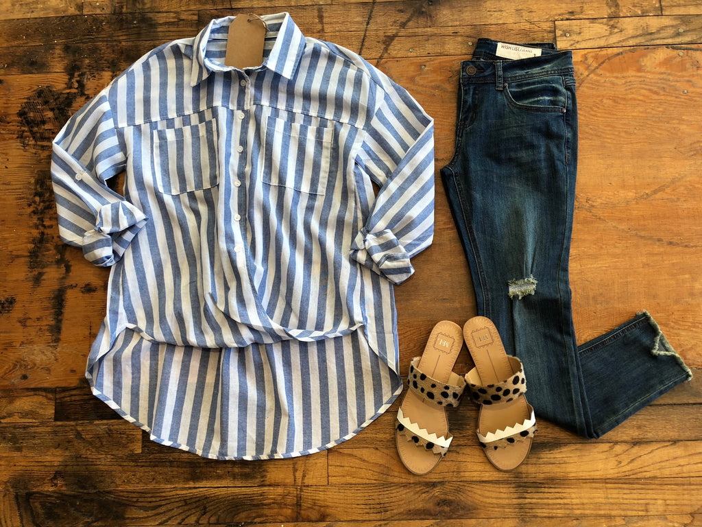 Collins Button Down Top