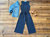 *BELLES & DOORBUSTER* Creative Approach Jumpsuit in Charcoal