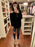 Warm Thoughts Sweater in Black