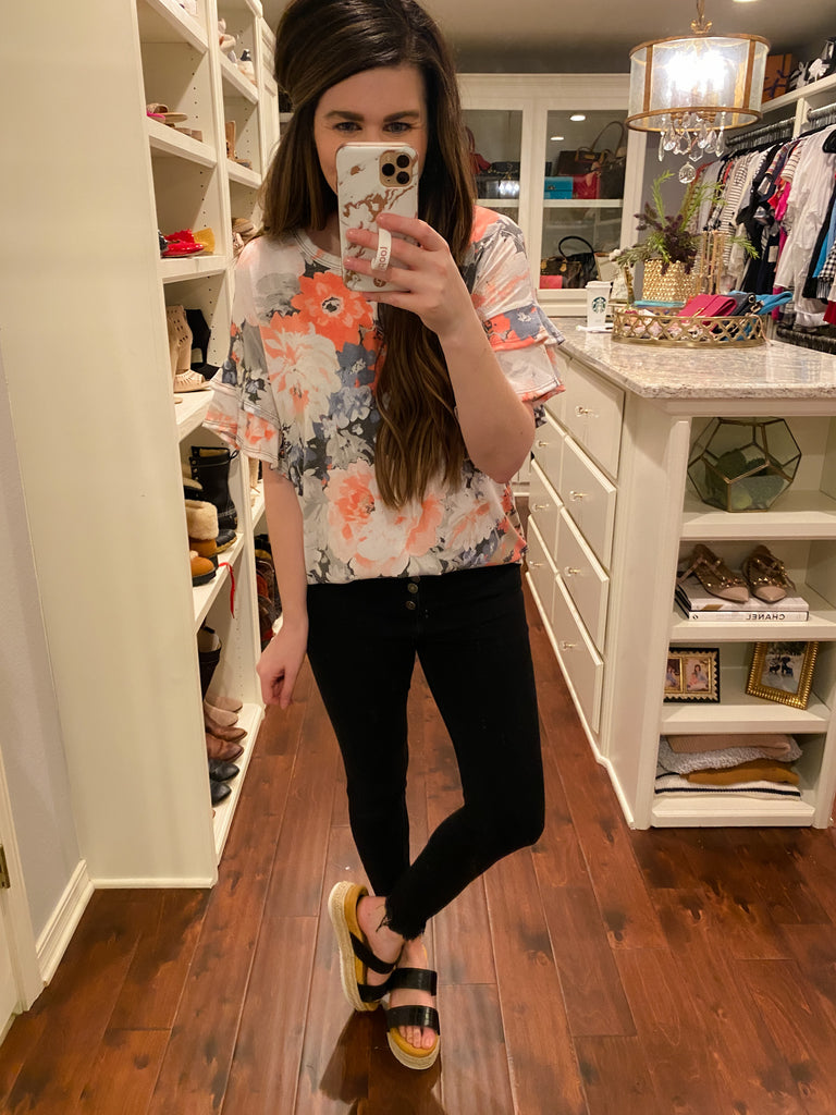 Just the Start Floral Top