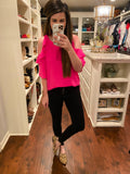 Day to Night Top in Hot Pink