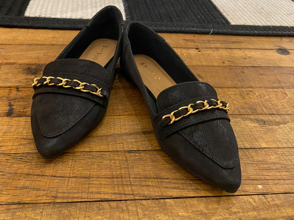 Chain Loafers in Black