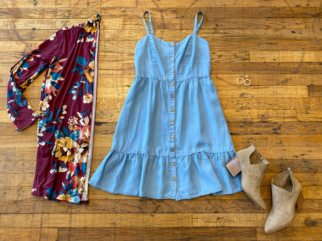Weekend out West Denim Dress