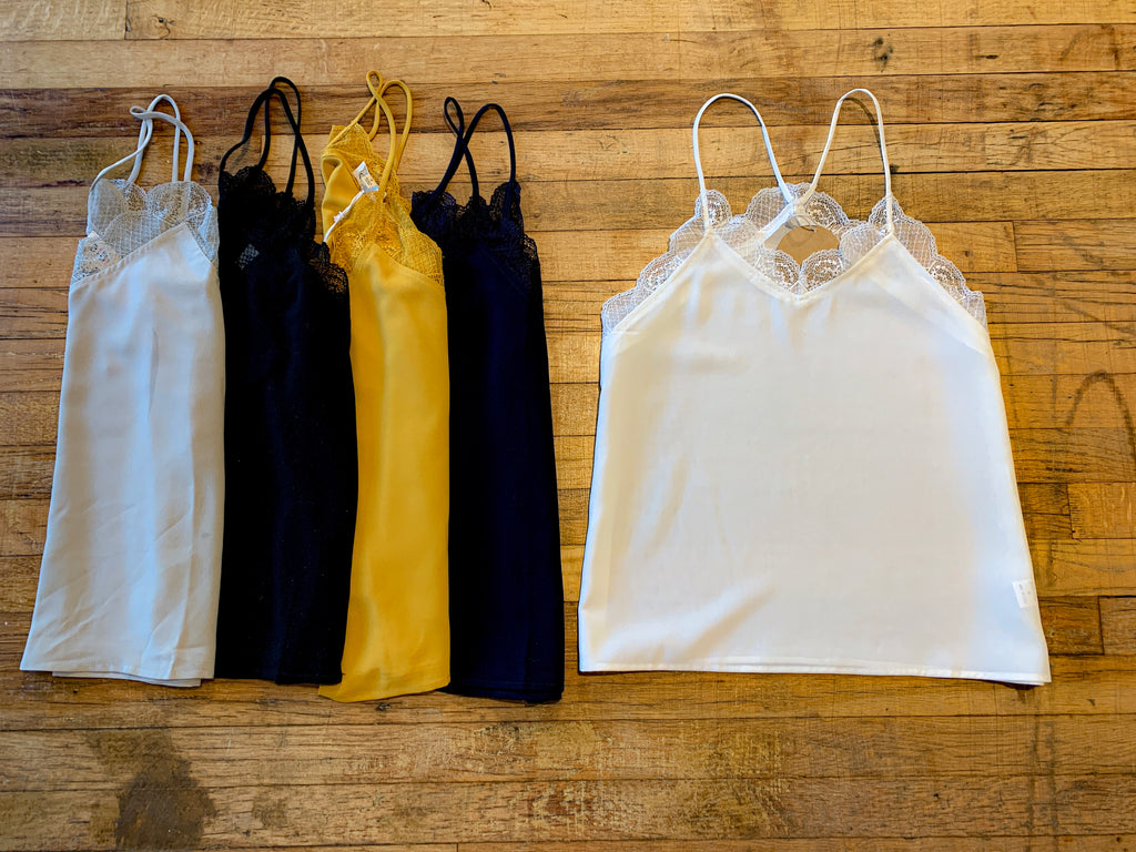 SALE! *BELLES & STEALS* Lace Layering Cami in Multiple Colors